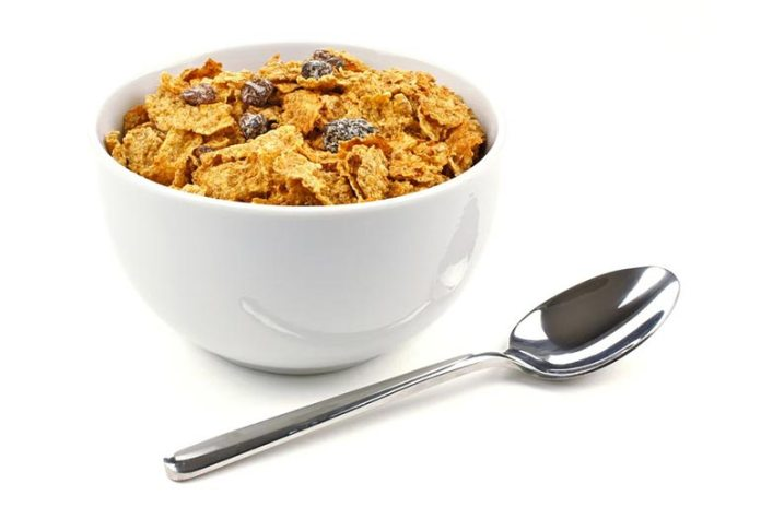 A Bowl Of Whole-Grain Cereals Is A Healthy Snack
