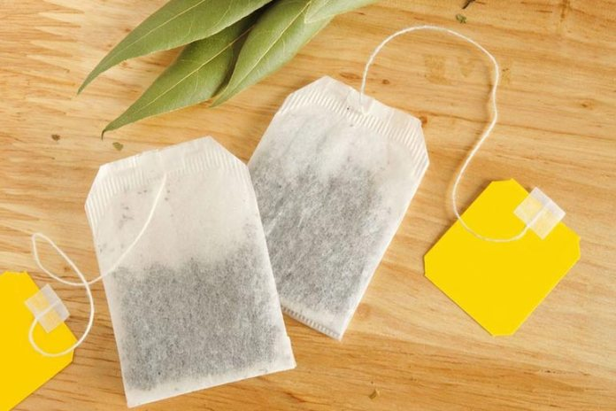 Rosewater and tea bags soak helps relax the skin