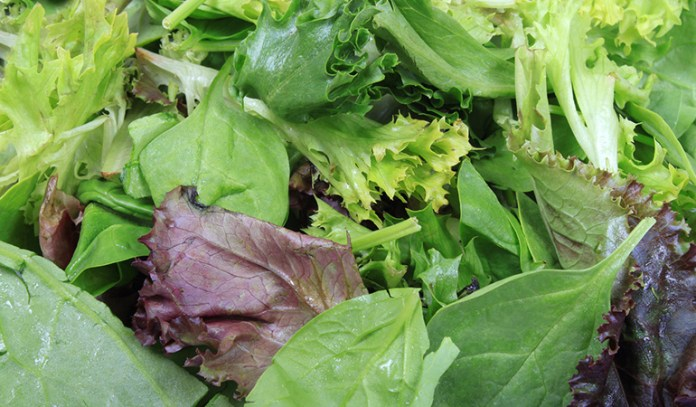 Leafy greens help with knee pain