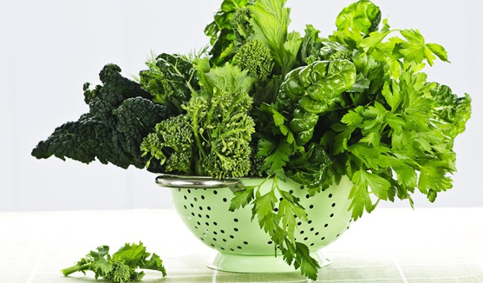 Leafy greens can help avoid constipation.