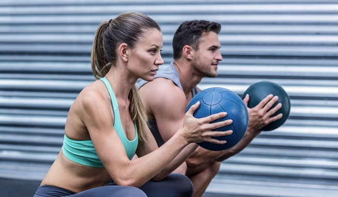 Medicine ball squats will help for basketball
