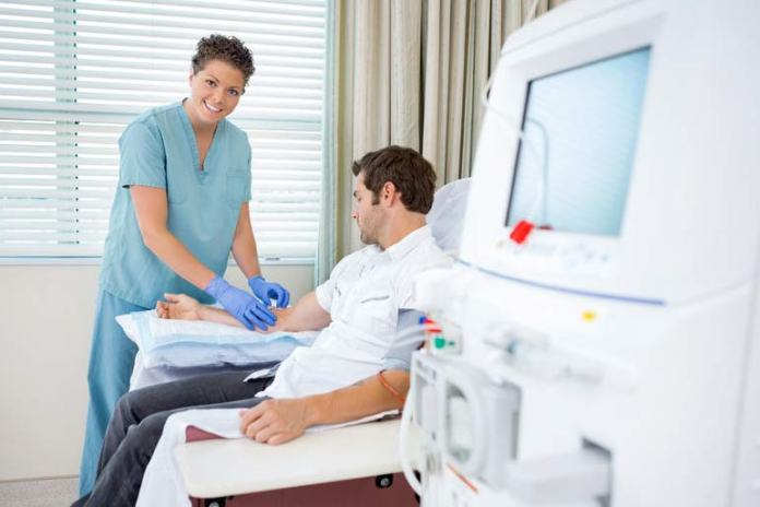 Dialysis can help purify the blood and rid the body of excess potassium