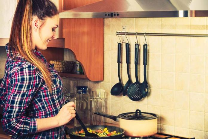 Keep the chimney or the exhaust fan on while cooking with Teflon-coated cookware