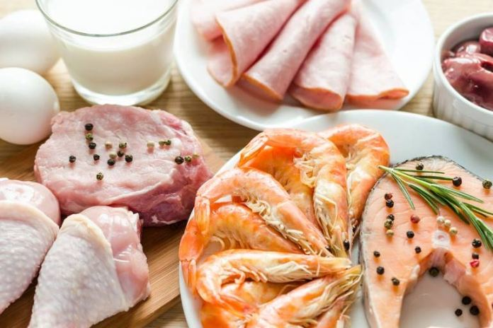seafood, meat, and poultry for multiple sclerosis