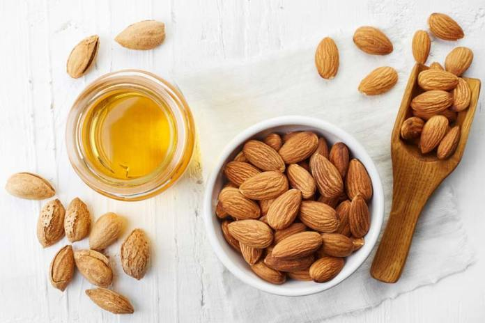 Vitamin E in almonds protects the knee joints.