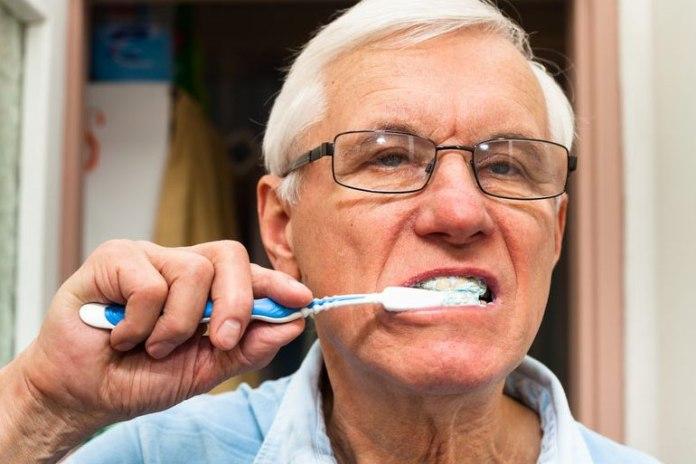 Brushing too hard can erode enamel