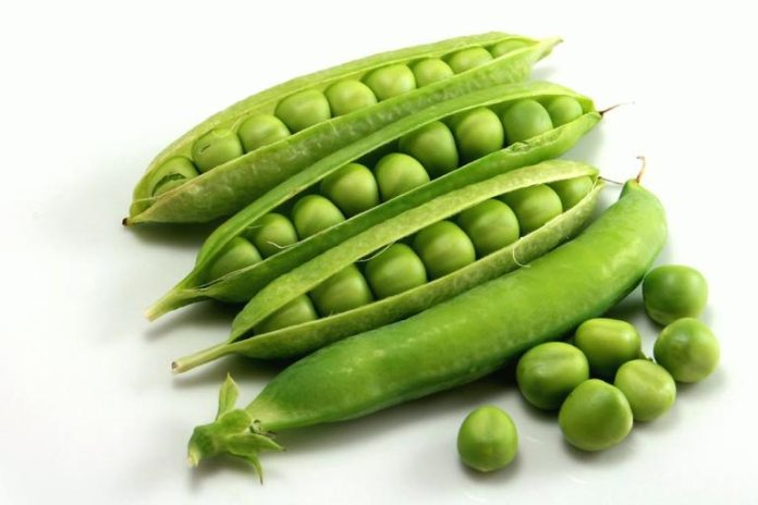 Snap peas are low-calorie.