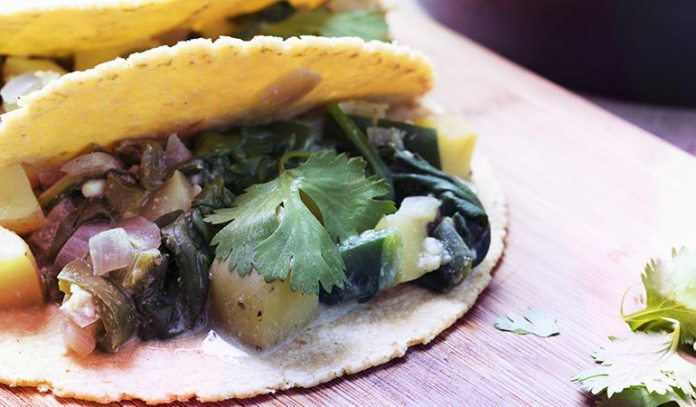 Add Wilted Greens To Tacos Along With Healthy Toppings