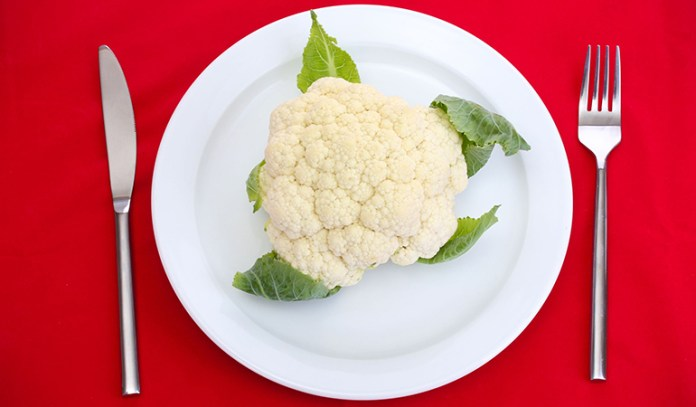 100 grams of cauliflower is just 25 calories