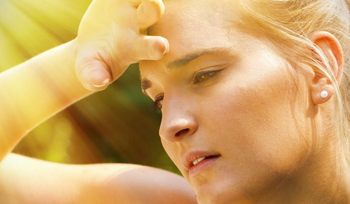 Dehydration can affect the skin and make it look darker