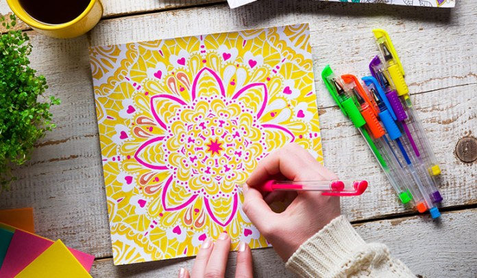 Research suggests that coloring is almost as good as meditation and is a good way to get rid of stress.