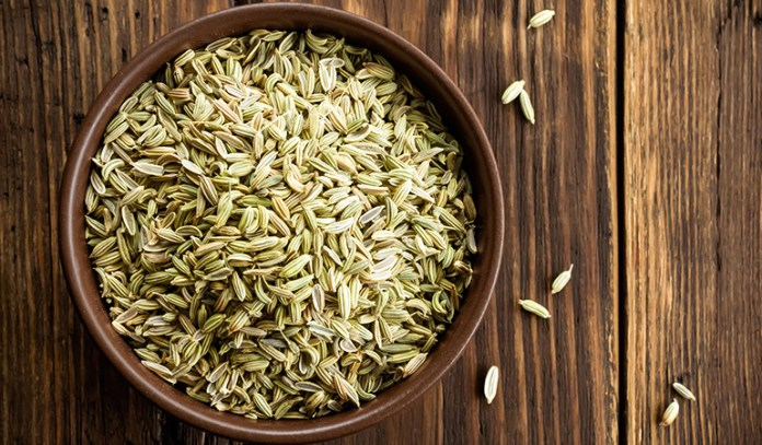 Fennel seeds contain natural oil compounds that help get rid of gas from the intestinal tract.