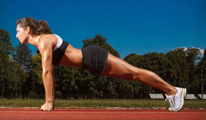 Plank exercises are good for the core muscles.
