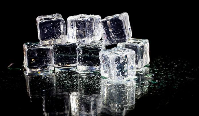 Try ice cubes for an exciting jolt to the senses.