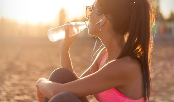 Cold water is absorbed better after exercise