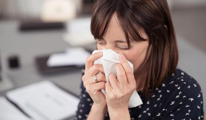 Mold illness causes allergy symptoms like sneezing