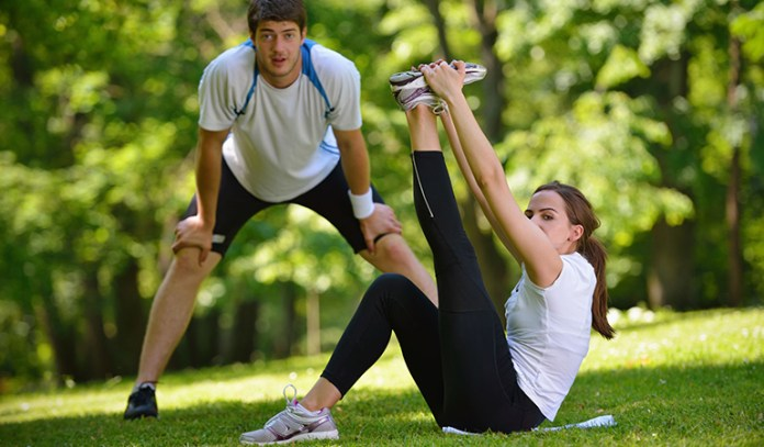 Do light warm up or stretching exercises
