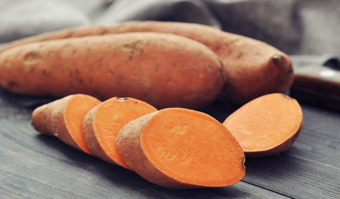 Sweet potatoes contain a lot of vitamin A