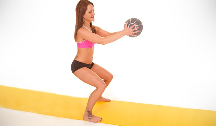 This exercise is hard to perform because of poor ankle mobility