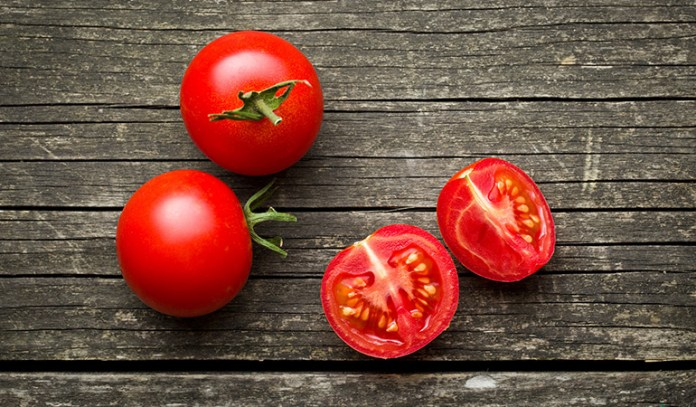 Tomato contains collagen, which is great for the skin
