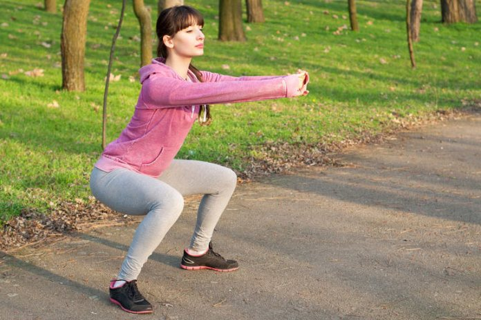 It is important to maintain the correct posture while doing squats