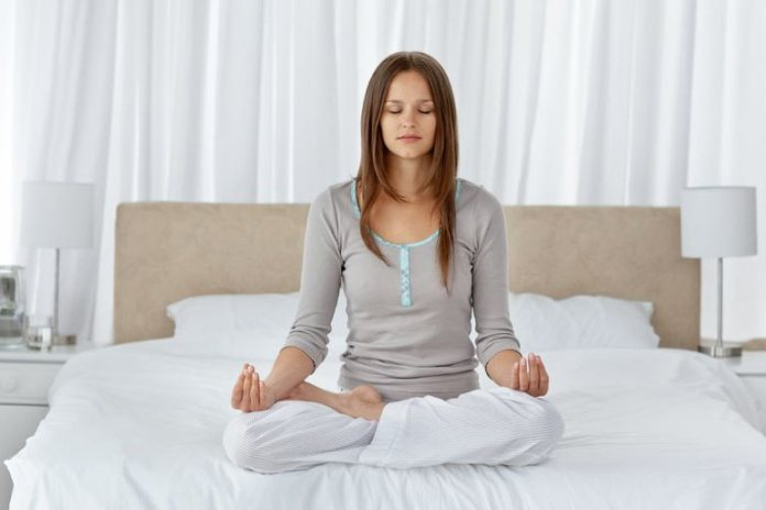 Do some light yoga or meditation in the morning.