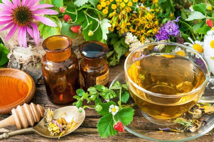 Herbal teas have the cleansing effect