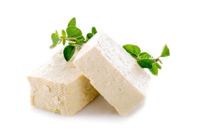 Tofu is a good option for cheese