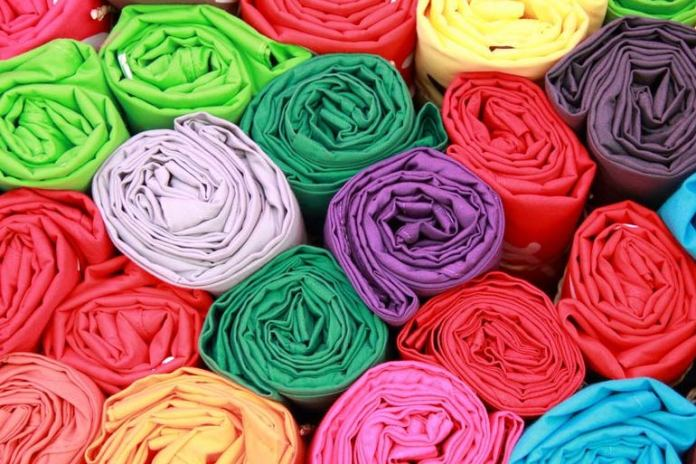 Cloth swatches are used for color therapy.