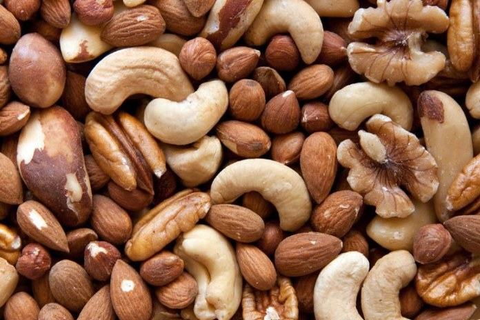 Nuts and meaty mushrooms are a good option for protein