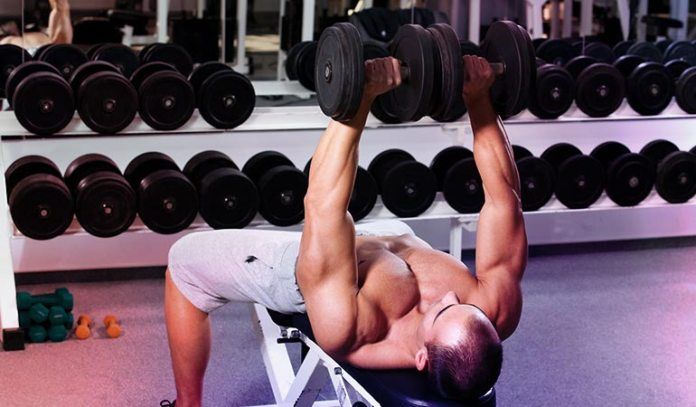 Incline dumbbell bench press is good for building the pecs