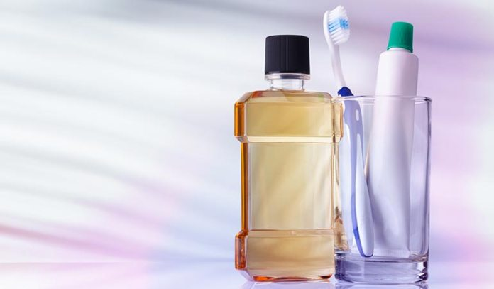 Triclosan is found in mouthwashes and toothpastes.)