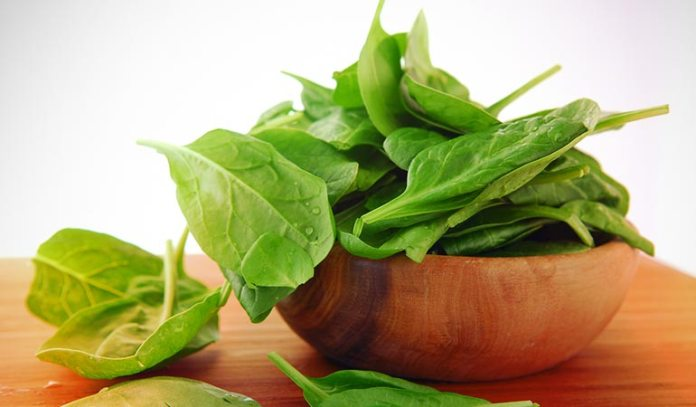 2 cups of baby spinach is packed with a high dose of vitamin K