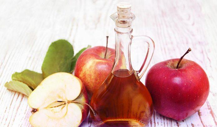 (Apple cider vinegar should be taken with warm water.)