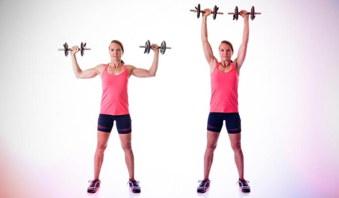 The lying dumbbell skull crusher helps to improve your triceps