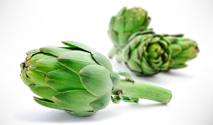 One large artichoke has 5 grams of protein.