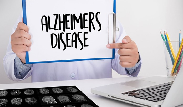 Caffeine blocks the damage of beta-amyloid plaques and tangles in the brain of an Alzheimer's patient.