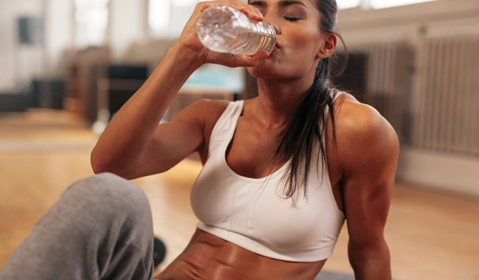 Drinking water keeps your workouts easier and less fatigued