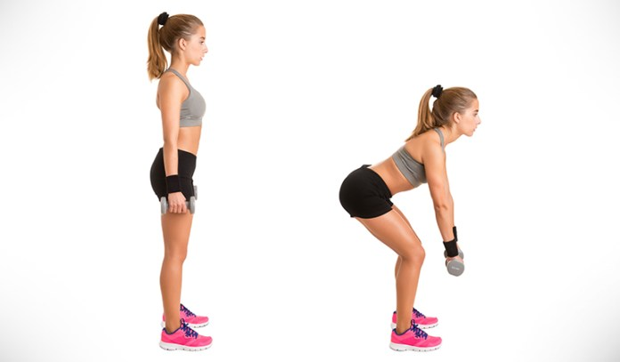 umbbell deadlift gets you back into the groove