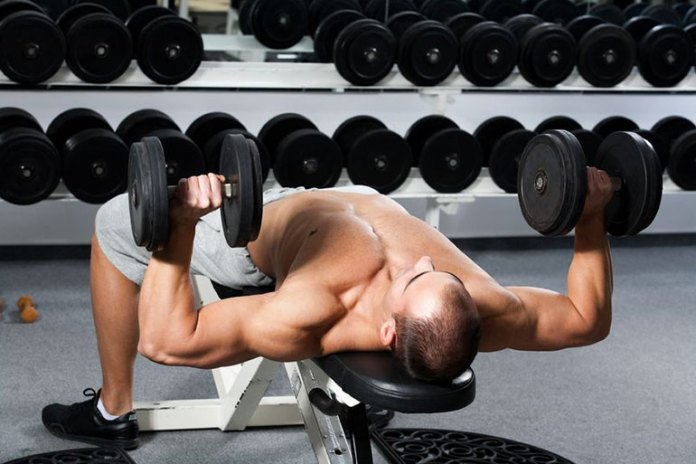 A variation to the bench press