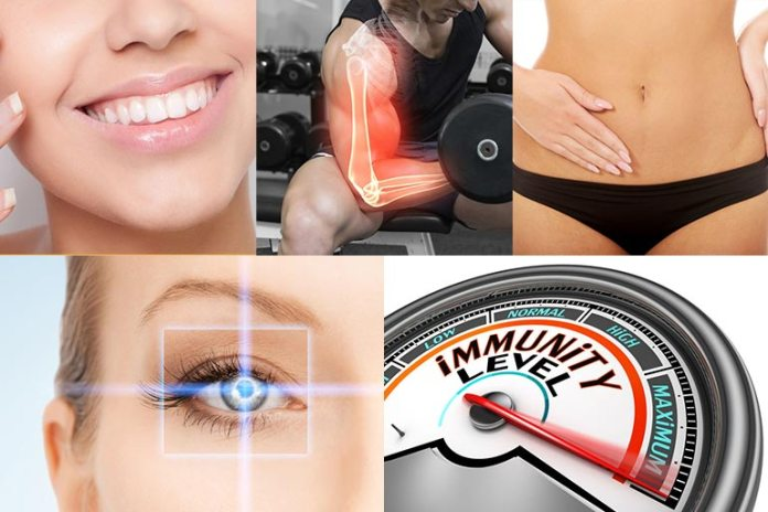 Vitamin A improves vision, skin appearance, bone formation, and immunity, and also protects the reproductive system.