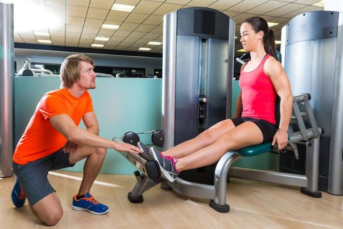 strengthen your leg with seated leg raise