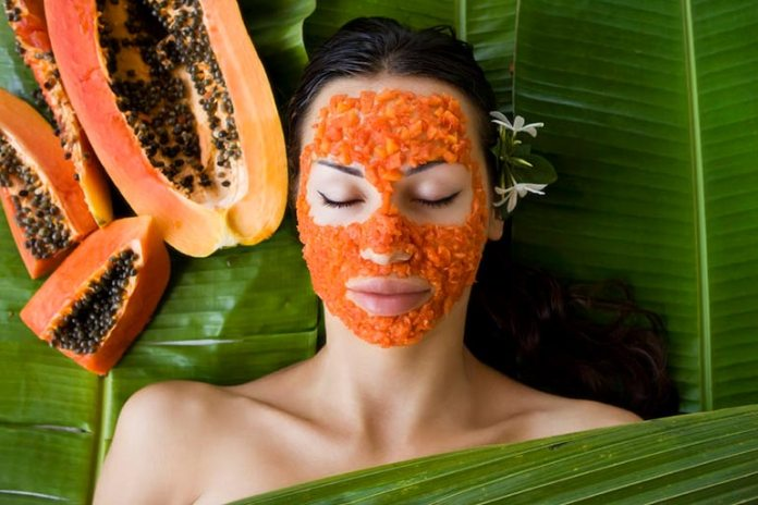 Papaya and honey face mask for uneven skin tone