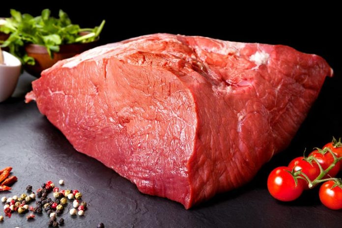 Red meat has a lot of fat in it which absorb water leading to constipation