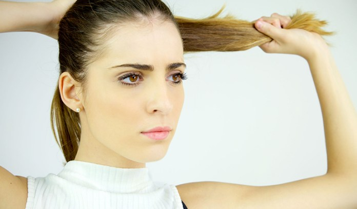 Avoid tight hairstyles to prevent hair loss