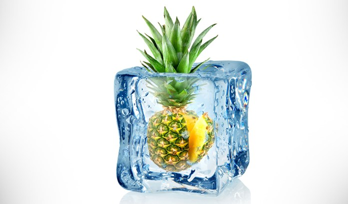 Pineapples and lemon zest ice cubes can boost collagen formation and increase blood flow to your skin
