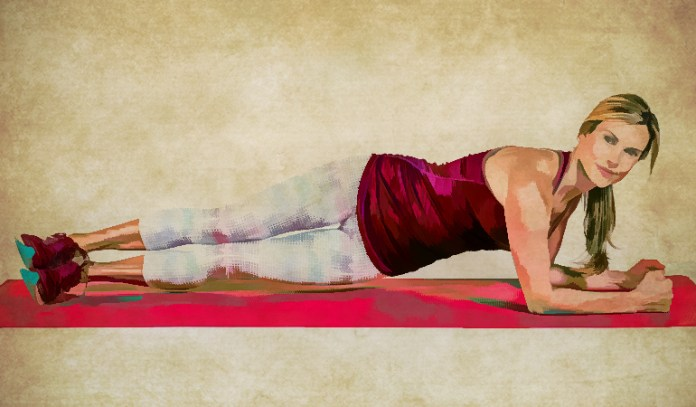Plank hip dips work your core and help burn belly fat.