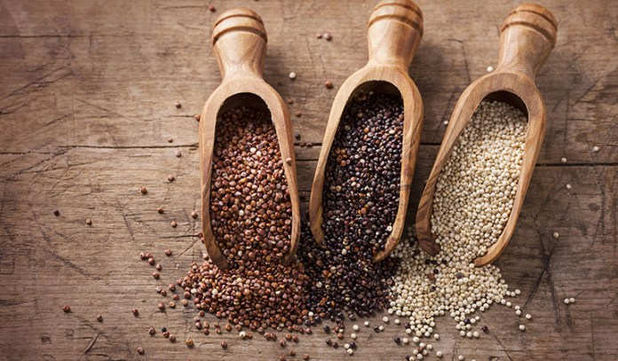 Quinoa is rich in fiber and protein