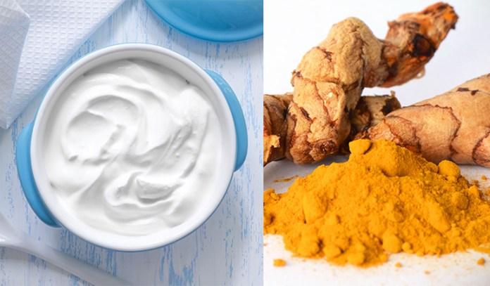 Turmeric and yogurt keep skin young and blemish free.