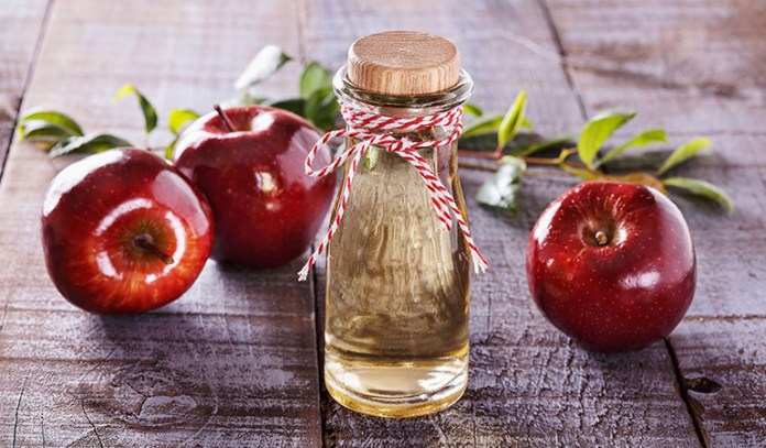 Raw vinegar contains a species of lactobacillus bacteria that can help fight off mold.